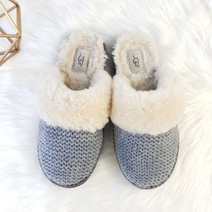 UGG Grey Aira Knit Slippers